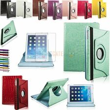 Embossed Crocodile Leather 360 Rotating Stand Case For iPad 5 Air +Film + Pen