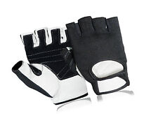 Brand New Leather Bus Driving Gloves Finger Less Wheelchair Cycling Gym Training
