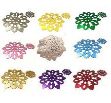 Snowflake Shaped Colour-Mirror Placemats / Coasters - 8 set - Several Options