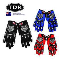 Adult Motocross MX Racing gloves Off road riding Dirt pit Trail bike Atomik TDR