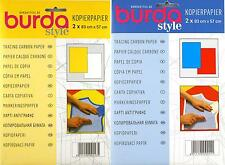 BURDA Tracing Carbon Paper - Ideal for Tracing Patterns - Choice of 2 Colours
