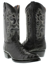 Mens Black Crocodile Alligator Belly Western Cowboy Boots Leather Rodeo