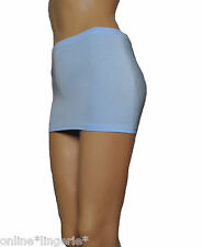 Micro MINI SKIRT Baby Blue Sexy Lycra Party Club BODYCON Short Womens Dance CS12