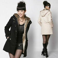 Fashion Women Thicken Warm Winter Coat Hood Parka Overcoat Long Jacket Outwear