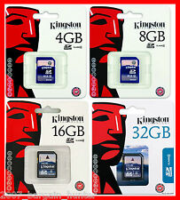 KINGSTON 4GB 8GB 16GB 32GB SD HC HIGH CAPACITY SDHC MEMORY CARD CAMERA CLASS-4