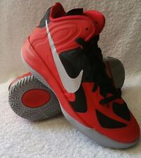 New! Youths Unisex Nike HYPERFUSE 2012 Basketball shoes Silver/Red/Black A30