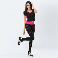 Fashion Women Capri YOGA Sports Running Pants Slim Leggings High Waist Trousers