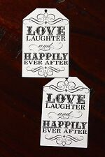 Love Laughter and Happily Ever After Wedding Tags Bomboniere Gift Large