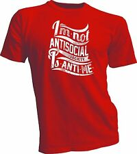 Men's Tee shirt with quotes quotes brainy funny antisocial t life positive