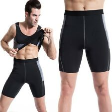 Mens Compression Gym Training Leggings Fitness Tight Cropped Pants Quick-dry