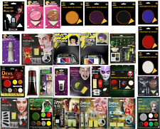 Halloween Make Up Face Paint Kit Zombie Devil Witch Vampire Blood Gothic Zipper