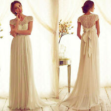 Long Sexy Womens Lace Evening Party Ball Prom Gown Formal Cocktail Chiffon Dress