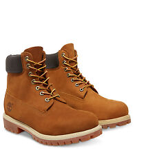 Timberland Mens 6-Inch Premium Rust Leather Lace original Waterproof Boots 72066