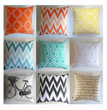 WATERPROOF OUTDOOR Cushion Covers Moroccan Geometric Chevron Throw Pillow Cases