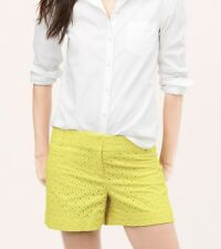 Ann Taylor LOFT Diamond Eyelet Riviera Shorts with 4 Inch Inseam Size 4, 8 NWT