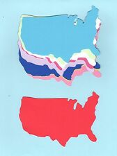 United States Map Die Cuts - United States Die Cuts -you choose Size & Colors