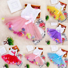 Newborn Baby Girls Lace Vest Tops + Floral Tulle Tutu Skirt Princess Bow Dresses