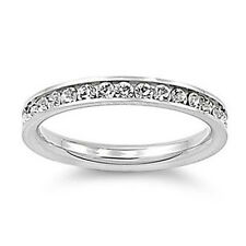 Eternity CZ 316L Stainless Steel Engagement Wedding 3mm Band Ring Size 8-10 IM