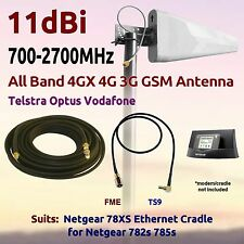 11dBi 4GX 4G 3G MultiBand Antenna for TELSTRA Cradle 78XS 782s 785s Coax FME TS9