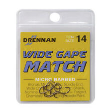 Drennan Wide Gape Match Spade End Micro Barbed Hooks Various Sizes