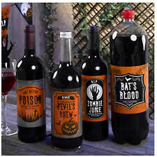 Stylish Design HALLOWEEN PARTY Bottle Drinks Labels!