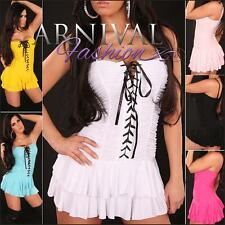 NEW SEXY LACE-UP MINI DRESS XS S M L shop online HOT LACED CLUBBING DRESSES gogo