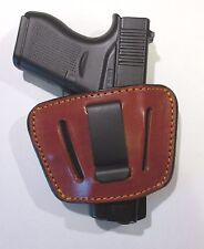 Leather Concealment Gun Holster Ambidextrous  - GLOCK 43  (#1035)