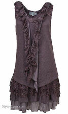 NWT Pretty Angel Clothing DHARMA TWO PIECE KNIT SHIRT DRESS N Mauve M L XL 62769