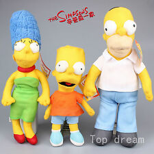 The Simpsons Homer J. Simpson Marge Bart Simpson Soft Plush Doll Toy 18'' Gift