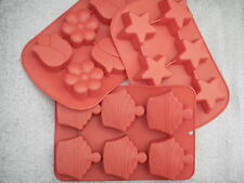 6 Cavity Cupcakes, Flowers or Stars Silicon Moulds for Soap / Candle Making