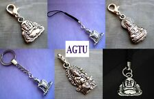 PICK YOUR BUDDHA Clip On Silver Buddha Kuan Yin Elephant Buddhism Good Fortune