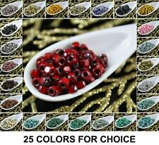 NEW SHAPE 10g 3 Cut Matubo 6/0 Czech Glass Large Hole Seed Beads 4mm
