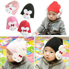 Lovely Baby Kids Winter Rabbit Hat Boys Girl Ear Flap Cap Beanie Cotton Warm Hot