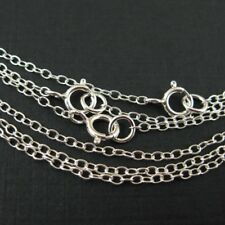 Sterling Silver Necklace 2mm Round Cable Oval Chain (All Sizes) Made in Italy