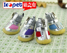 Ioopet Fashion Puppy Dog Boots PU Leather & Mesh Dog Shoes XS-XL 5 Size