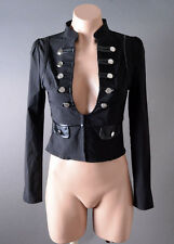 Womens Military Captain Pirate Officer Steampunk Long Sleeve Jacket Top S M L