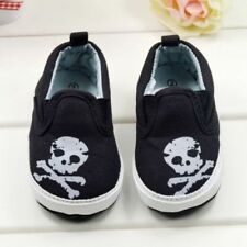 Baby Boy Infant Cute Black Skull Canvas Summer Casual Shoes Pre Walkers