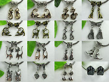 Kitty Kitty Kitty All Kinds Shapes Sizes & Colors Charms for European Jewelry