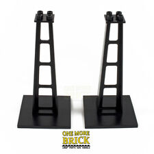 LEGO Black Stanchion / Monorail Support / Girder Beam (part 2681) pack of 2