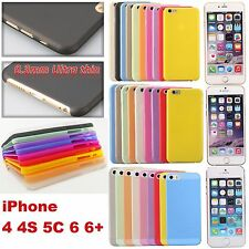 0.3mm Thin Transparent Hard Matte Color Case Cover Guard For iPhone 4 5 5C 6 6+