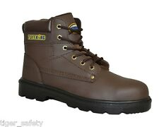 Tuffking 9549 S3 SRA Brown Leather Steel Toe Cap Safety Boots Work Boot Footwear
