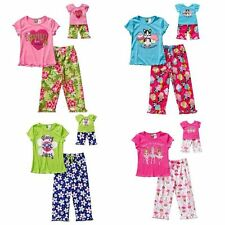 NWT Dollie & Me Girls 4 Pc Short SL Pajama Set Fits American Girl 5 6 7 8 10 12