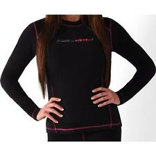 FXR Womens Black Snowmobile Pyro Thermal Long Sleeve Top Base Layer