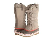 SOREL Joan of Arctic II Fossil Taupe Beige KNIT Suede BOOTS Womens  US  8 9 10