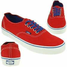 VANS Classic Authentic Skater Trainers Unisex red NEW