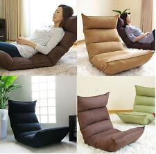 Convertible Folding Recliner Floor Sofa Sunbed Bed Deck Chair Couch Lounge Seat
