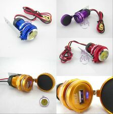 12V Motorcycle Handlebar Cellphone Smartphone USB Charger Power Adapter