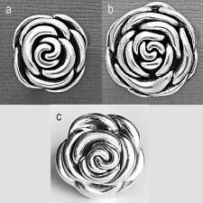 925 Sterling Silver ROSE Ring-Rose Silver Ring-Polished