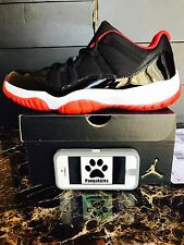 Nike Jordan 11 Low Bred Black Red 528895-012 GS & MEN W/Receipt 11-11.5