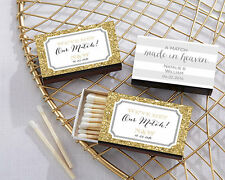 Personalized Match Box Bridal Shower Wedding Anniversary Favor Assorted Designs